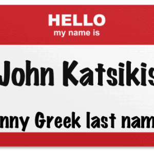 Greek last names that are funny