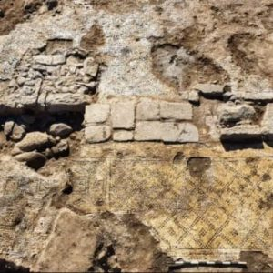1,500 Year Old Ancient Greek Inscription Christ, born of Mary Found in Israel